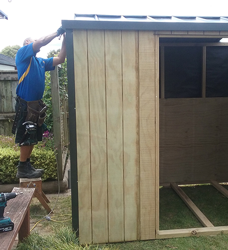 Timber Shed On-site Installtion